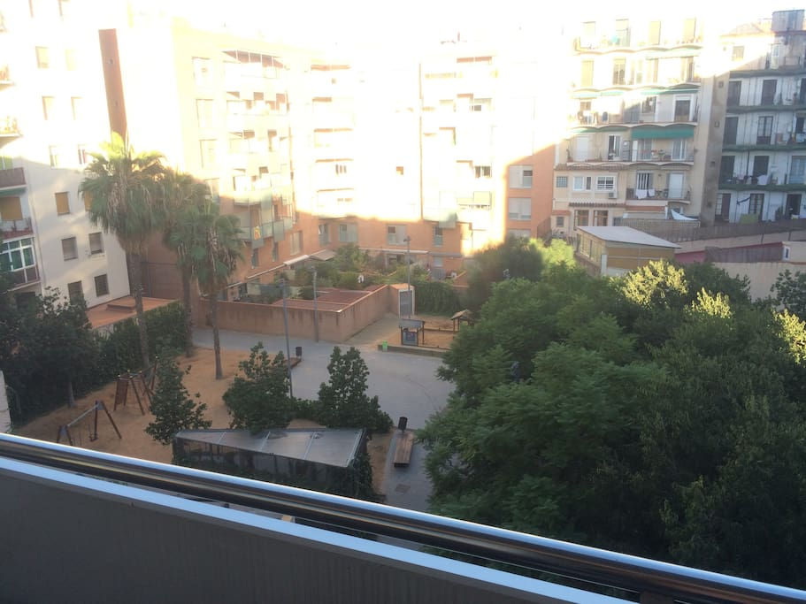 Park view from balcony/terrace