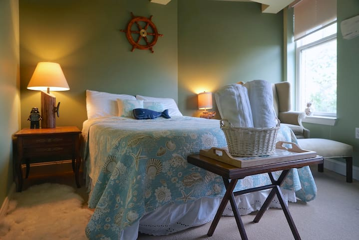 Nautical room in the heart of UVA - Charlottesville - Apartamento