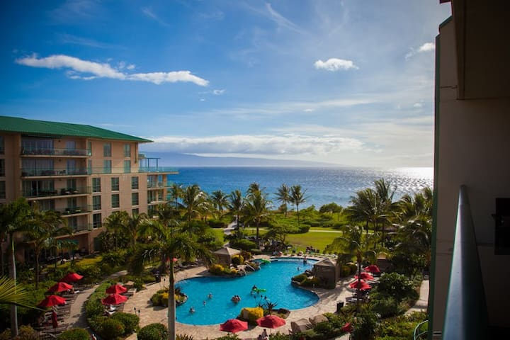 Maui Westside Properties: Hokulani 549 - Great Ocean View Interior Courtyard! - Kaanapali - Appartement