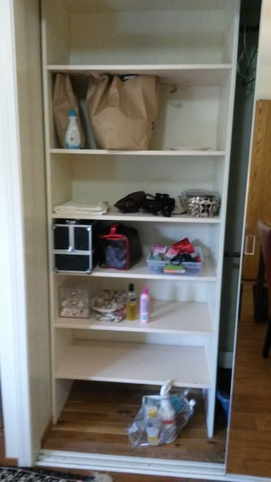 Storage space in the closet