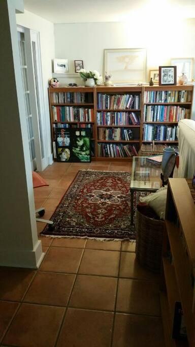 A comfy living room area.