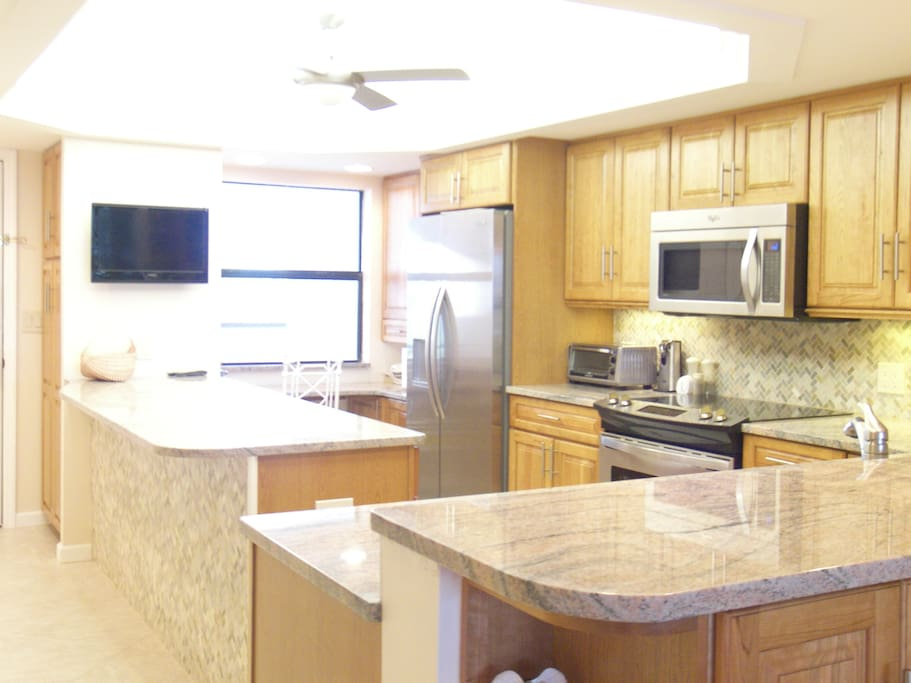 New Kitchen with Granite, Stainless Appliances, open to Dining/Living