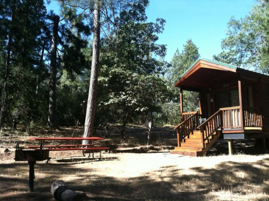Bass lake yosemite cabin cottage e cabins for rent in for Airbnb cabins california