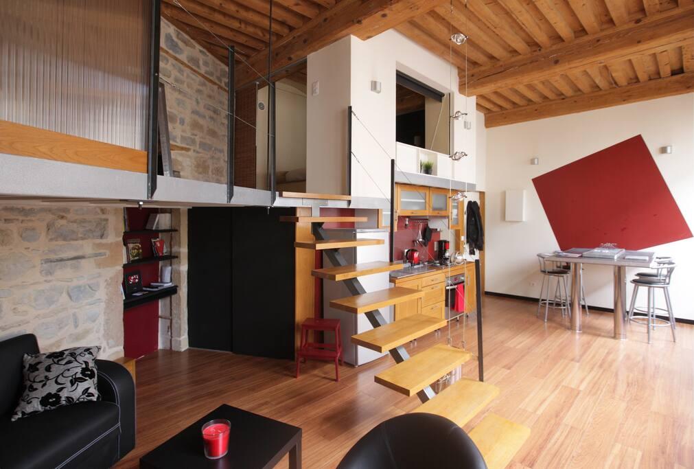 Design flat in the heart of lyon appartementen te huur for Design appartement frankrijk