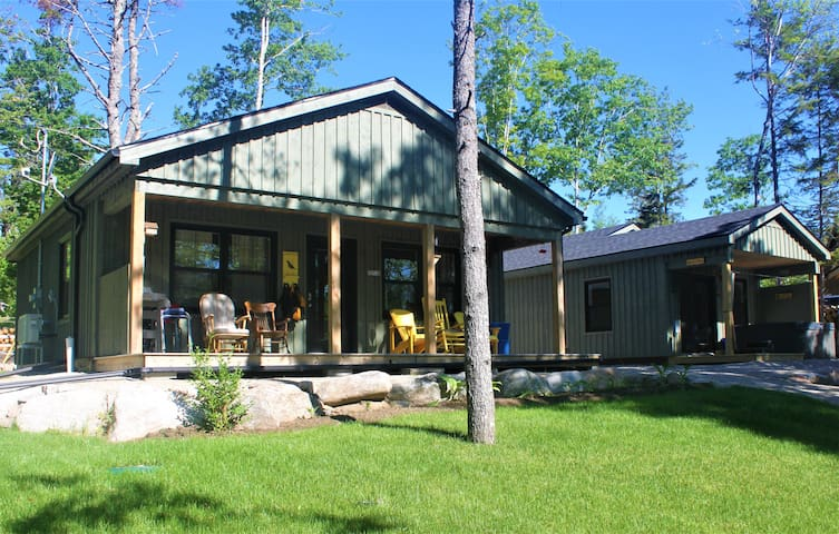 Lakefront Cottage with Bunkie and Hot Tub