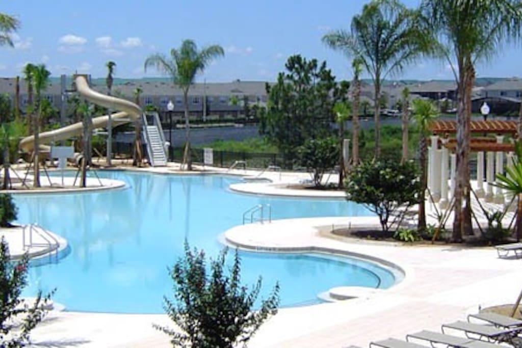 Enjoy the Beautiful Resort Pool!