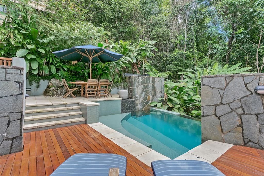Award winning pool in the rainforest