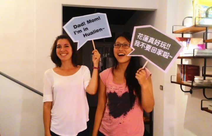 花蓮火車站北吉光6人女性房的1床/1 bed@Female Dorm-7A