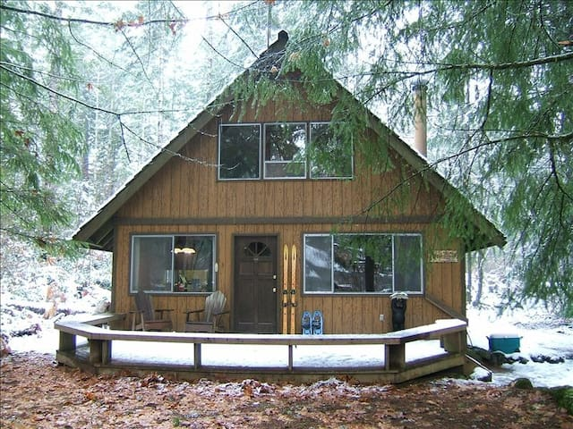 Authentic cabin - hot tub, river, wood stove! - Packwood - Cabin