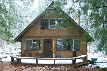 Authentic cabin - hot tub, river, wood stove! - Packwood