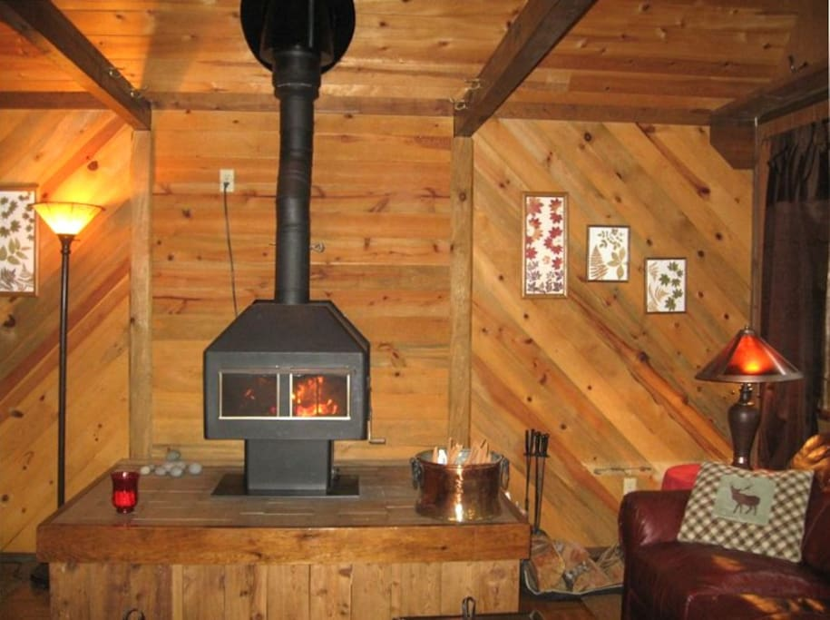 Unique feature - wood stove - not all cabins have one of these