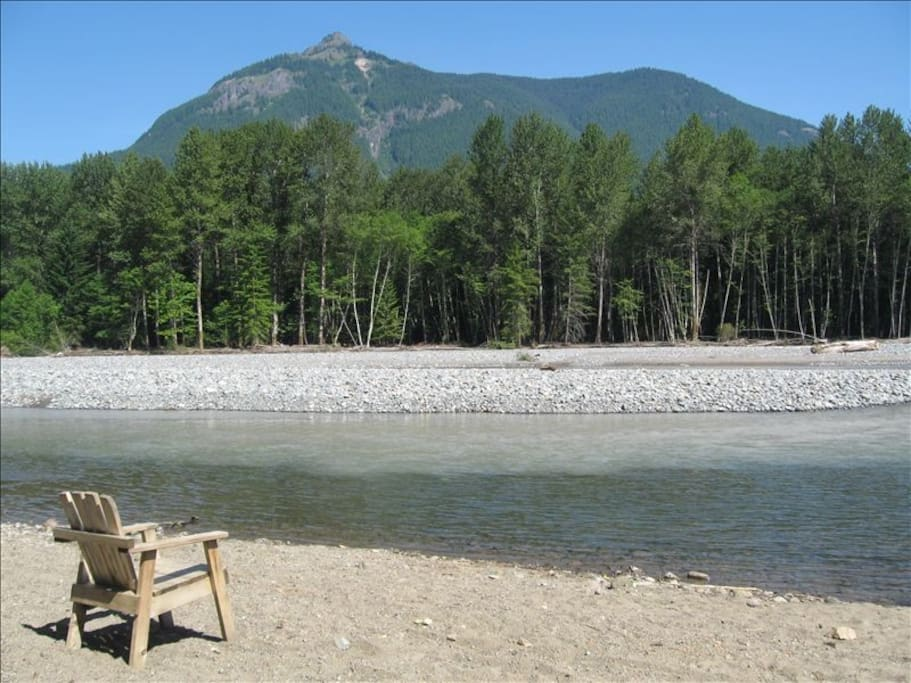 Cowlitz River 900 feet from the front door of the cabin. Elk, Eagles and other wildlife to see
