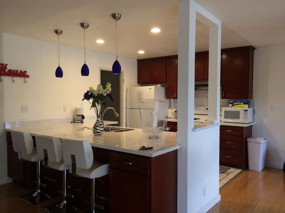 Open kitchen with big island