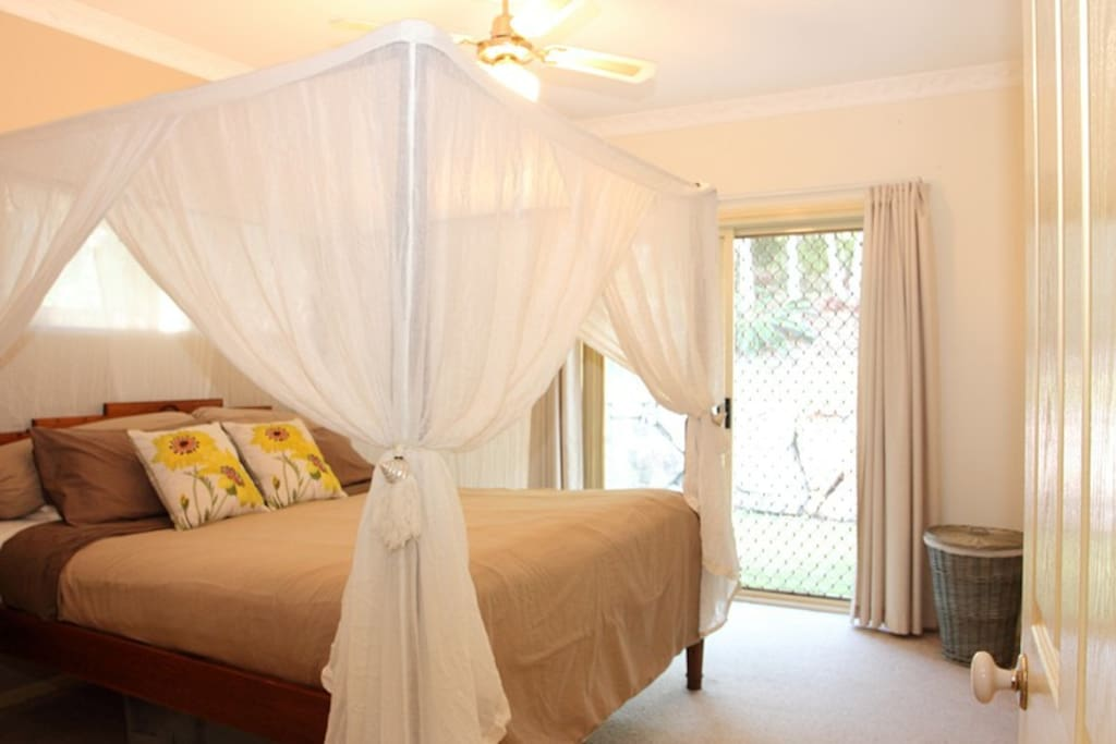 Separated private master bedroom area with walk-in robe and ensuite