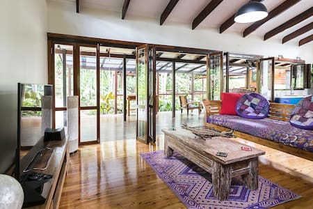Wildwood Retreat - house + exotic orchard