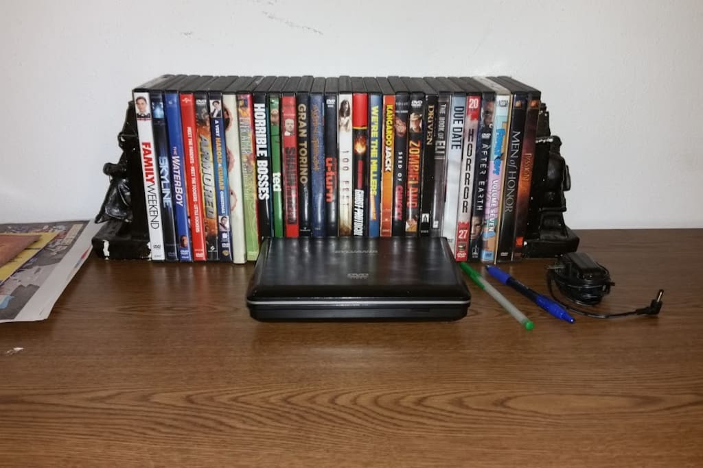 DVD's available to watch.   There's one in the living room as well as several video game consoles to play on.