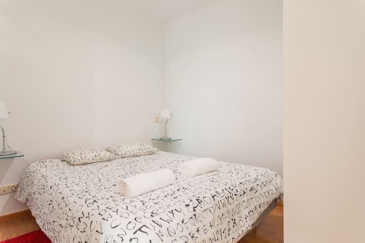 Acogedor dormitorio.