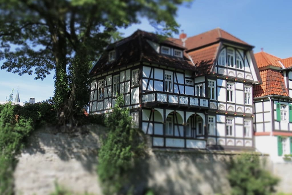 The Villa Busdorf was built The apartment is located on the top storey of a building more than 250 years old - the Villa Busdorf.