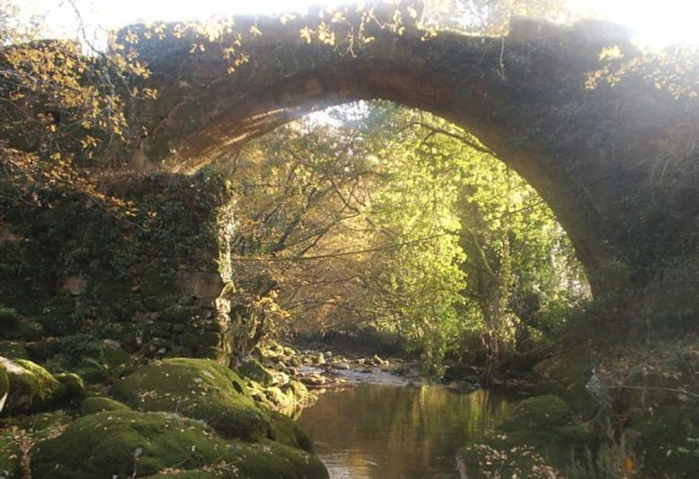 stone bridge at a laxe