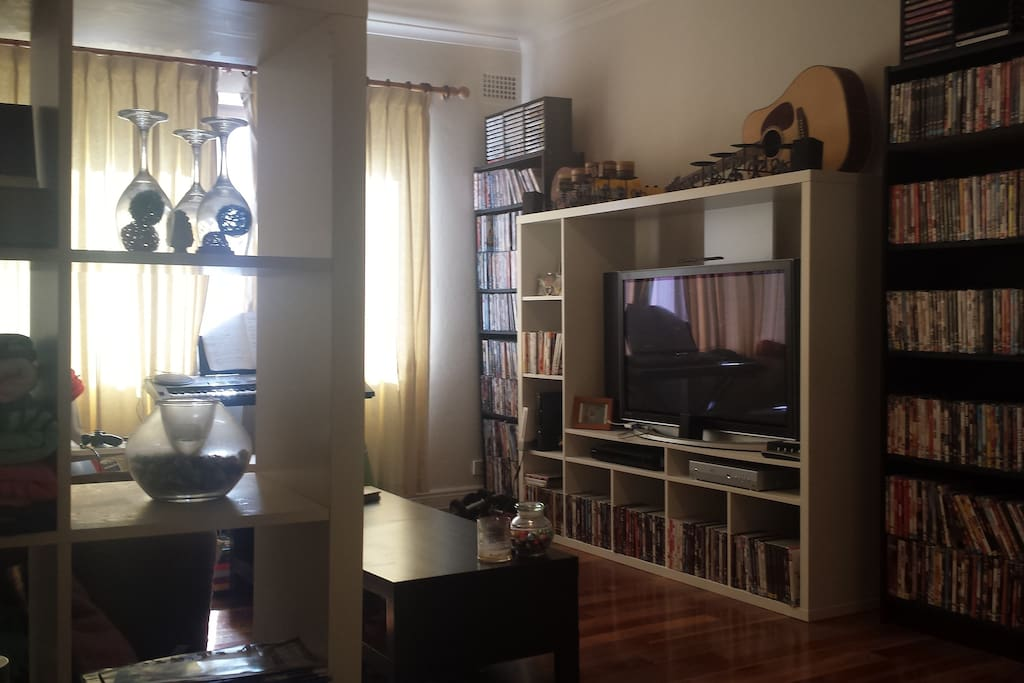 Large DVD collection, Xbox, Wii, 5.1 surround sound system