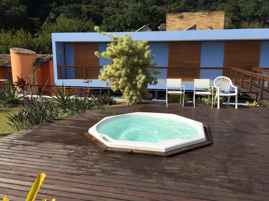 Banheira spa deck superior