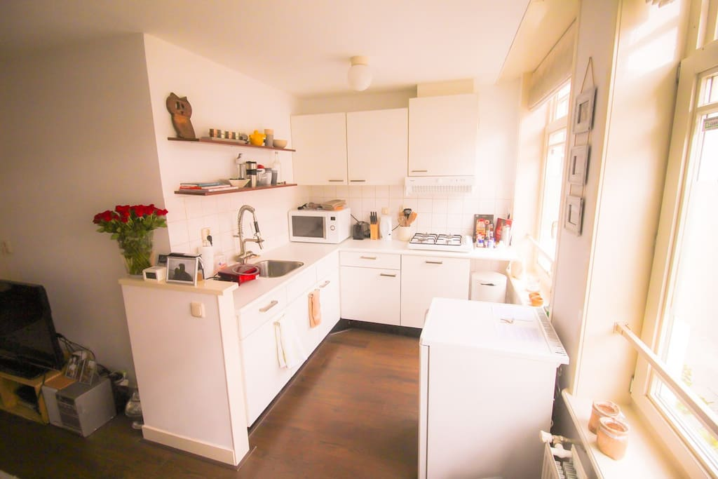 Nice open kitchen with dishwasher