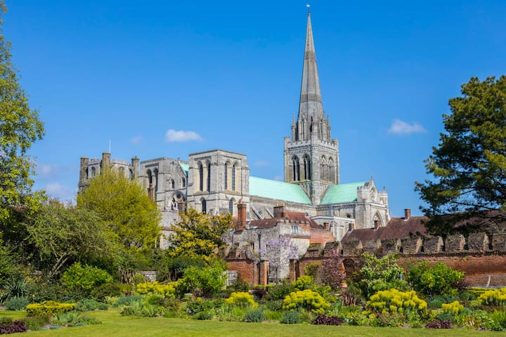 CHICHESTER with its magnificent cathedral is a 10 minute drive.