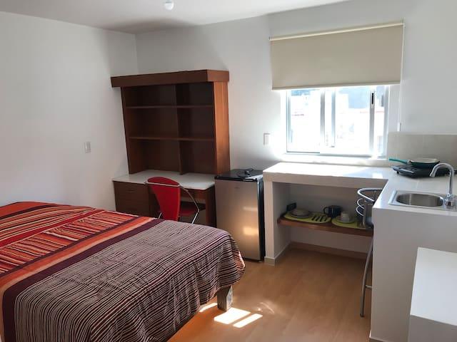 Habitación loft/estudio 2 con baño en Providencia