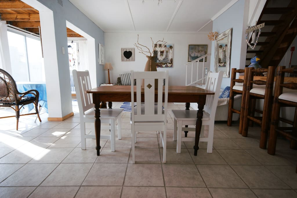 You won't feel crowded -- the table has space for at least 4 with more space on the kitchen bench