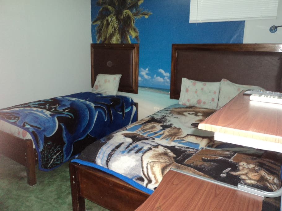 STANDARD DOUBLE ROOM QUEEN SIZE AND SINGLE BED A/C PRIVATE BATHROOM