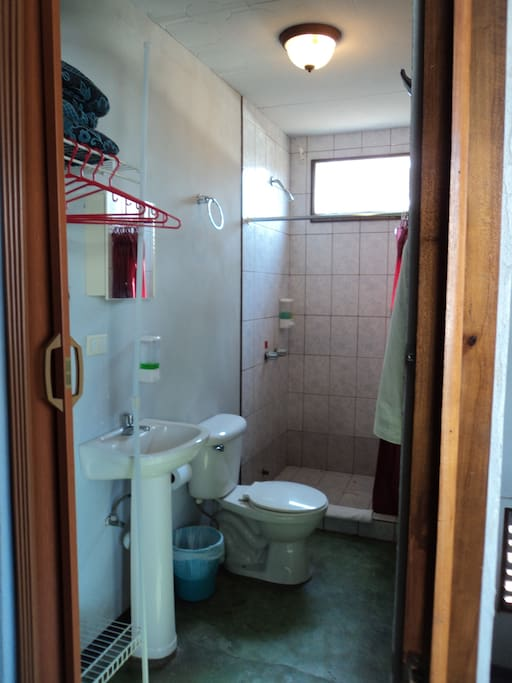 FULL PRIVATE BATHROOM WITH SOLAR HOT WATER SHOWER
