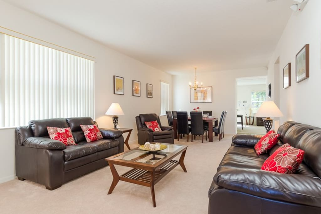 Formal living room with dining
