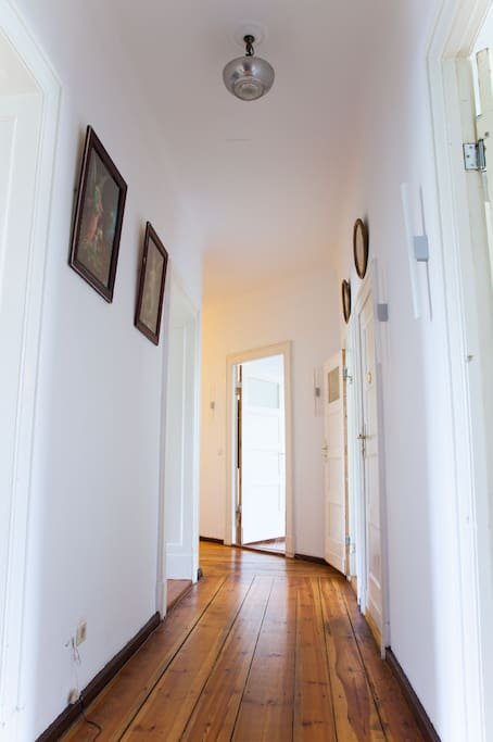 Hallway as seen from the entrance