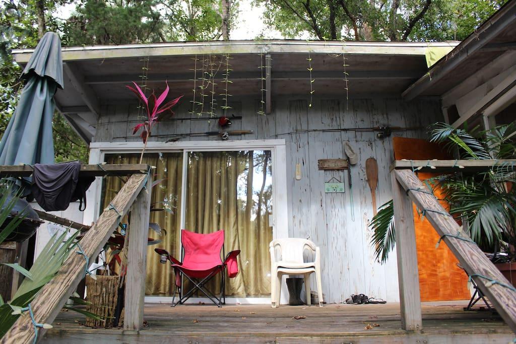 Front porch facing lagoon.