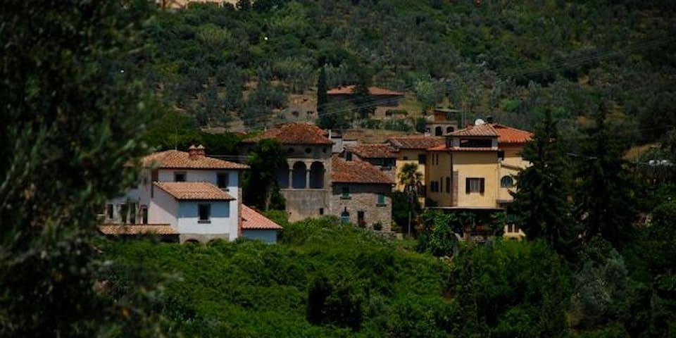 Nearby village