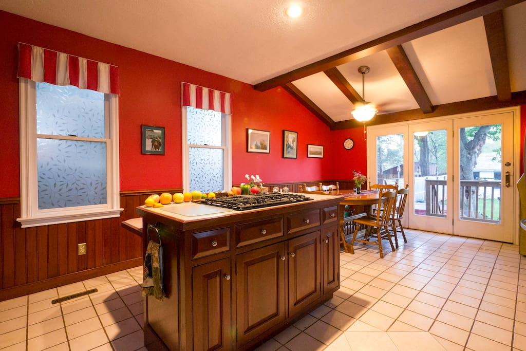 Spacious shared kitchen.
