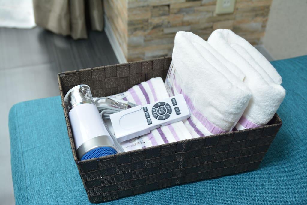 Hair Dryer/Bath Towel