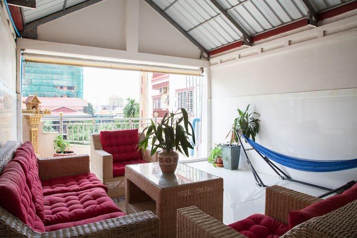 Nice spacious terrace!