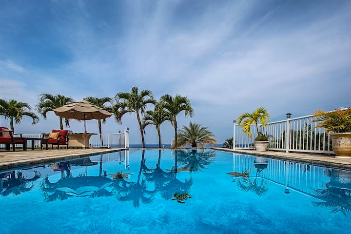 ★★Amazing ocean view huge pool/SPA/AC ♥ of town