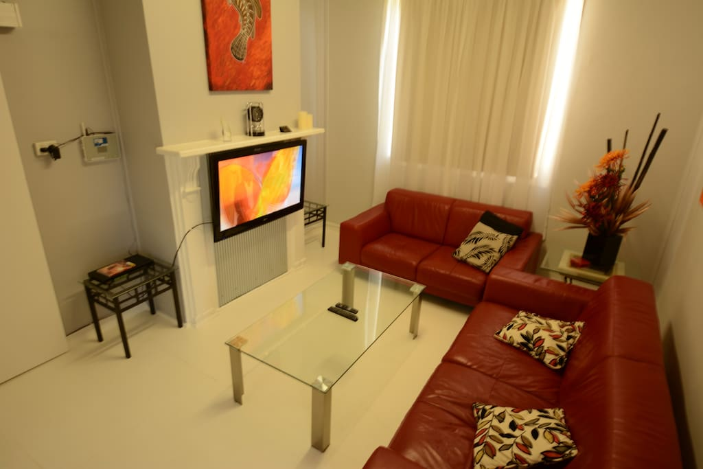 Lounge area with large screen TV and Free WIFI