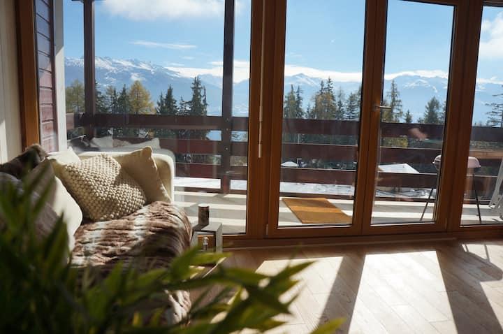 Anzere, Swiss Alps nr Crans-Montana