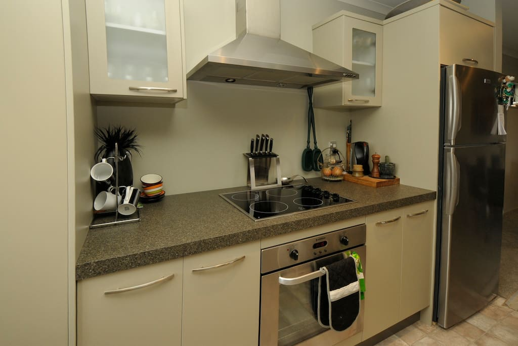 Modern well equipped kitchen with all modern conveniences.