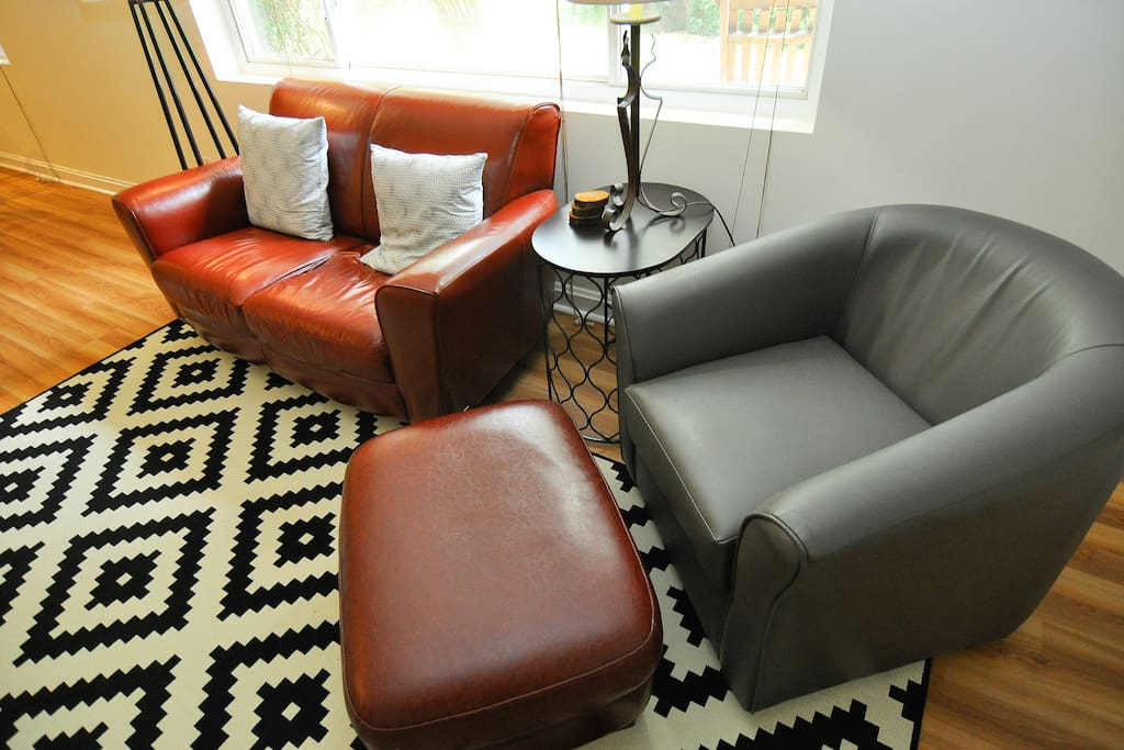 Comfortable and clean furniture.