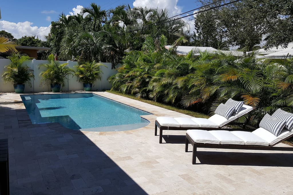 Brand New Salt Water Pool with Lounge Chairs