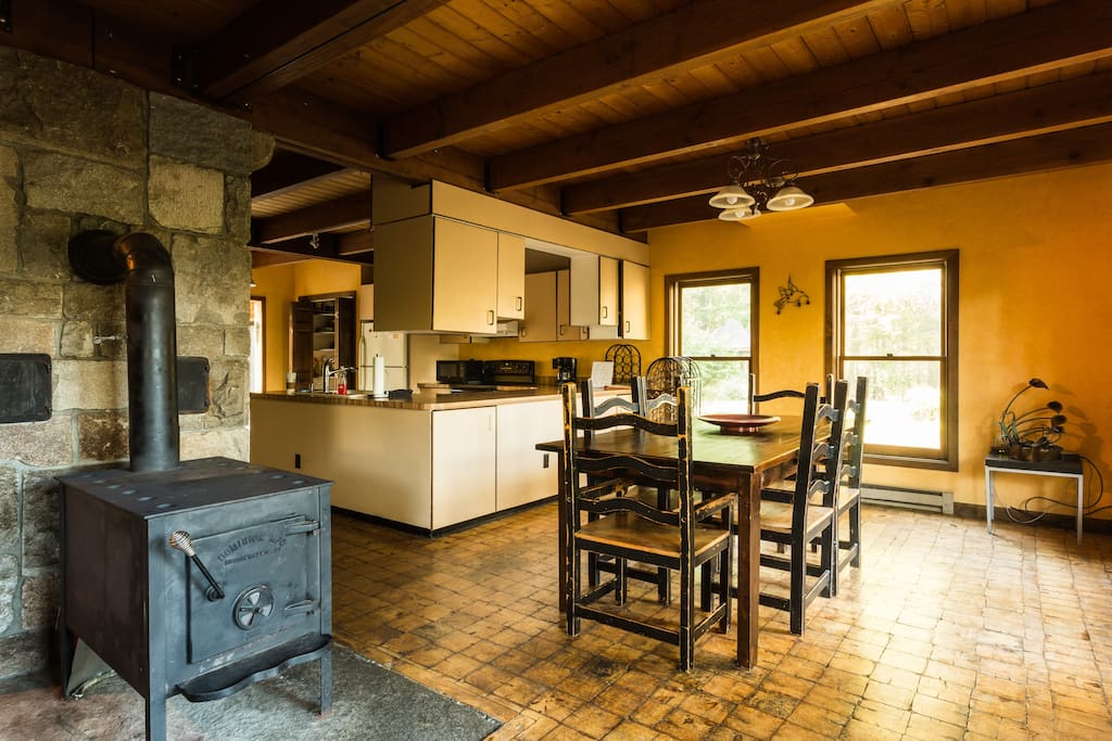 Dining Room and Woodstove