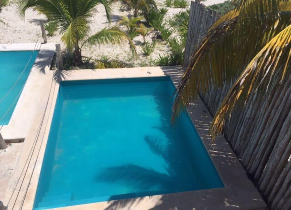 Uaymitun yucatan frente al mar km16 casas en alquiler en for Piscina 5x4