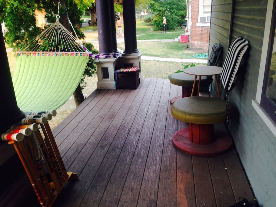 Our lounging porch...