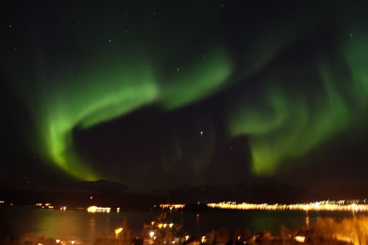 Auroras seen from the terrace in October 2015