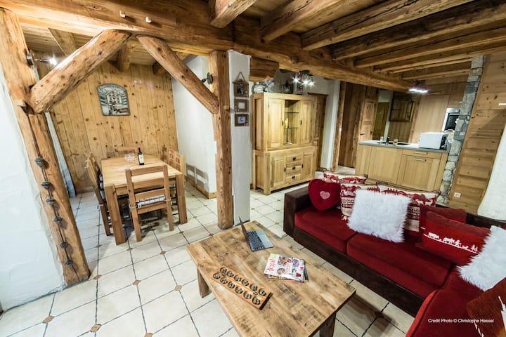 Un bel appartement de 125 m² dans un chalet