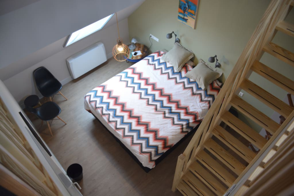 Room with small stair
